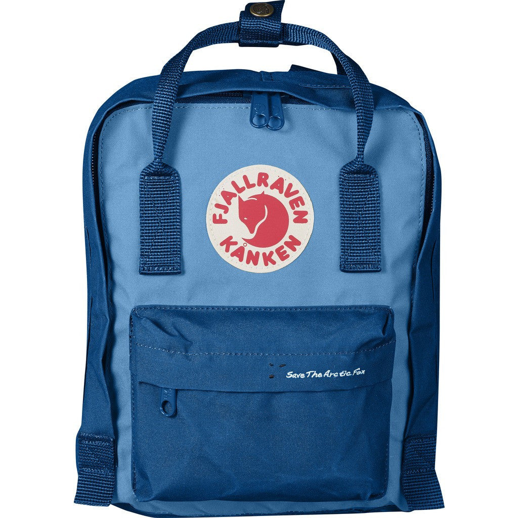 Fjallraven Save the Arctic Fox Kanken Mini Backpack | Lake Blue/Air Blue F23496-539-508