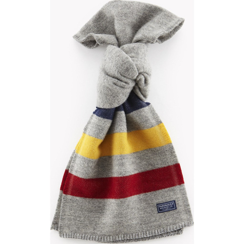 Faribault Revival Stripe Wool Scarf | Gray 1954 10x72