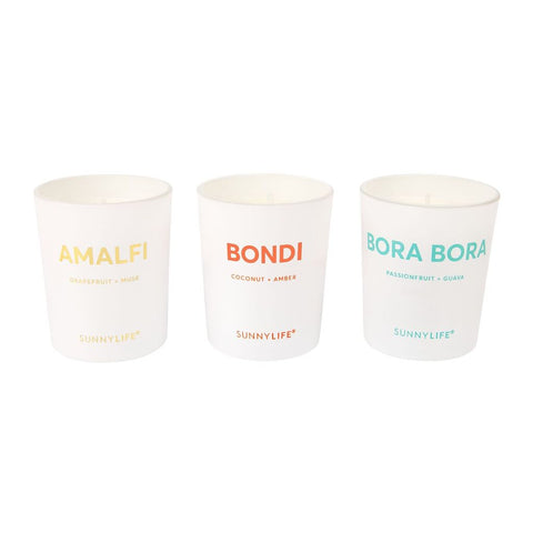Sunnylife Scented Candle Pack Set of 3 | Amalfi/Bondi/Bora Bora