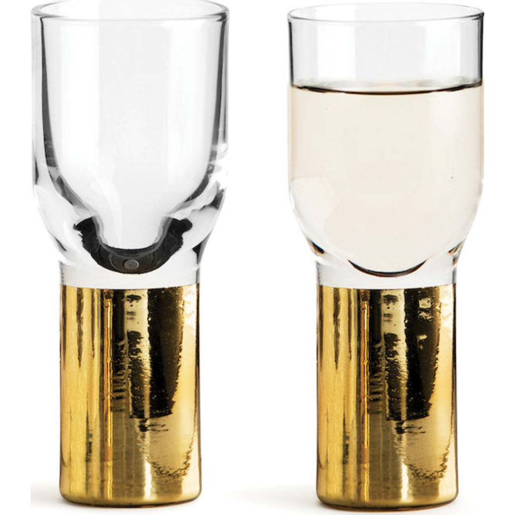 Sagaform Club Gold Shot Glass with Schnapps | 2-Pack