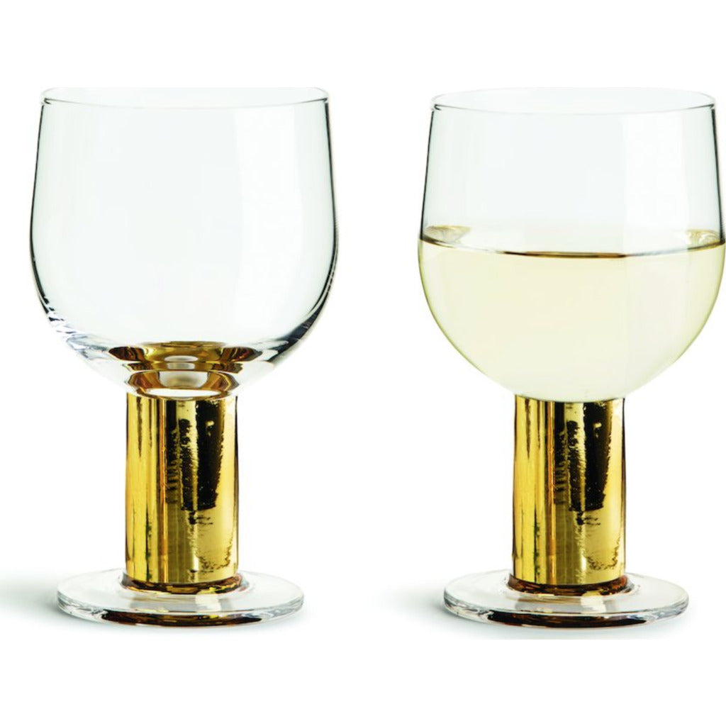 Sagaform Club Gold Wine Glass | 2-Pack