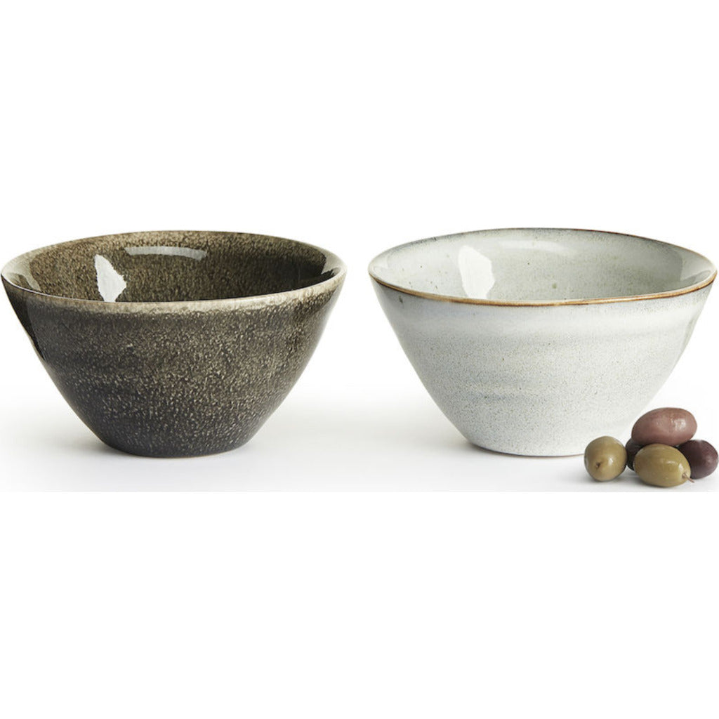 Sagaform Nature serving bowl small, 2 pack 5017889 grey/white