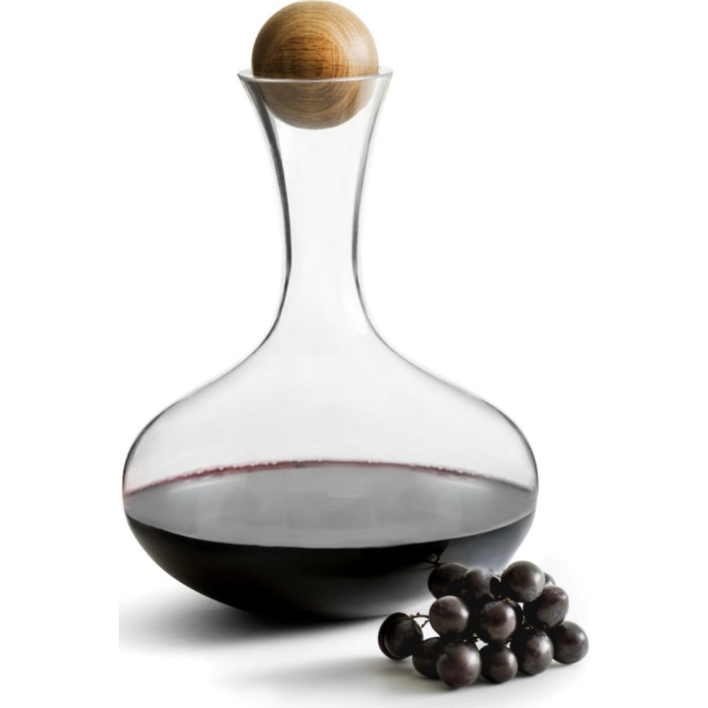 Sagaform Nature Wine carafe w/oak stopper 5010116 clear/brown