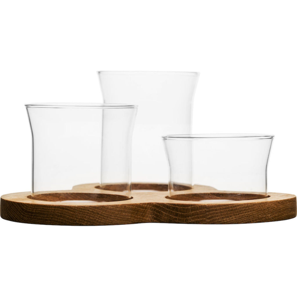Sagaform Nature glass serving set 5017183 clear/brown