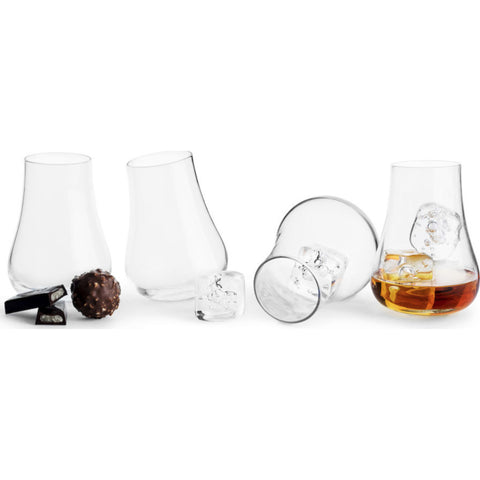 Sagaform Club after dinner glass, 4 pack 5017852 silver/brown