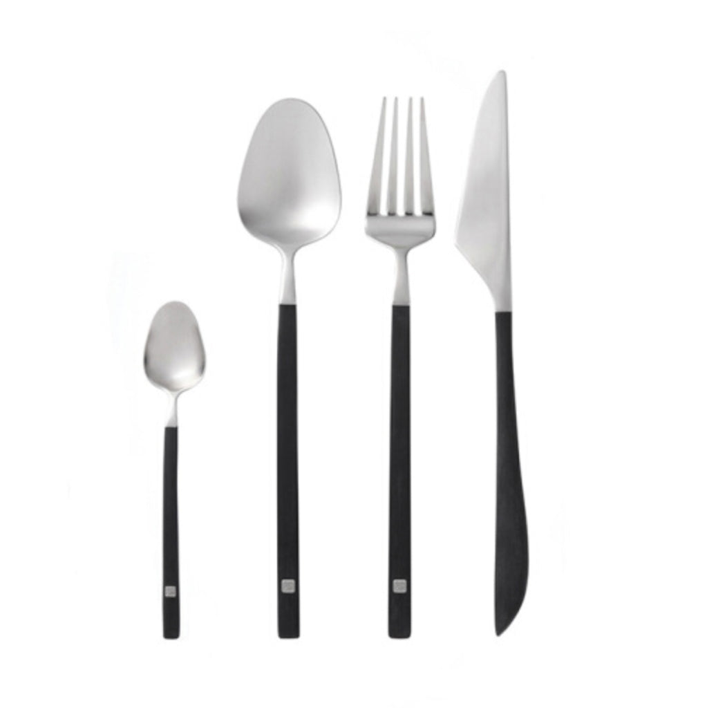 JIA Inc Calligraphy Cutlery 4-Piece POM Set