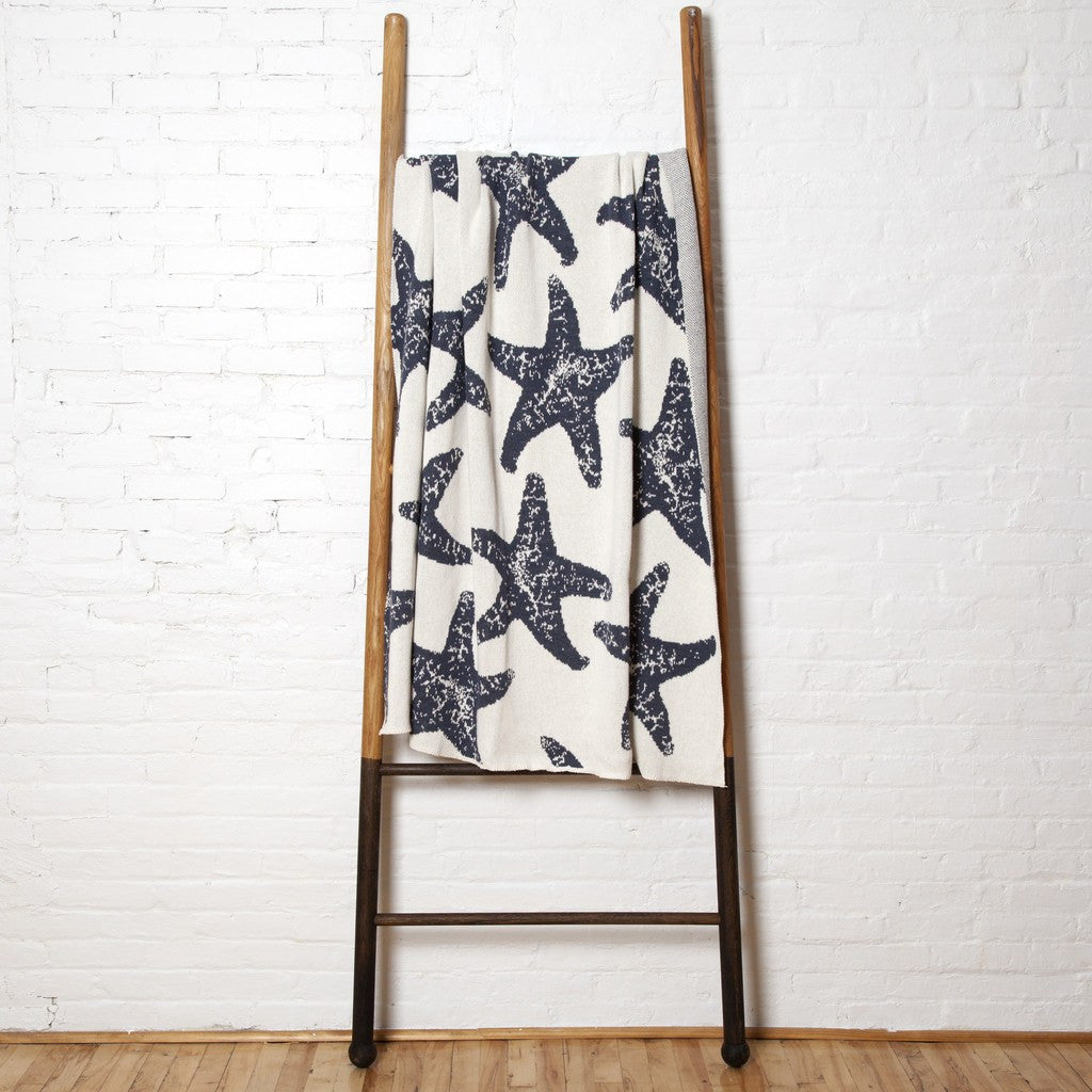 in2green Sea Star Eco Throw | Milk/Slate BL01SS3