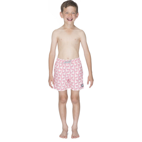 Tom & Teddy Boy's Seagull Swim Trunk | Sea Pink / 11-12
