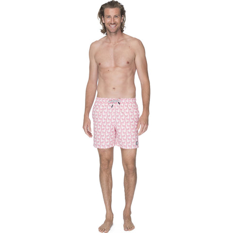 Tom & Teddy Men's Seagull Swim Trunk | Sea Pink / 2XL