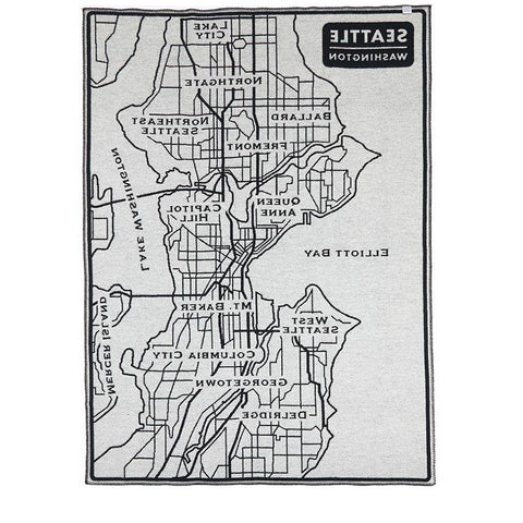 Faribault Seattle Map Throw | Wool