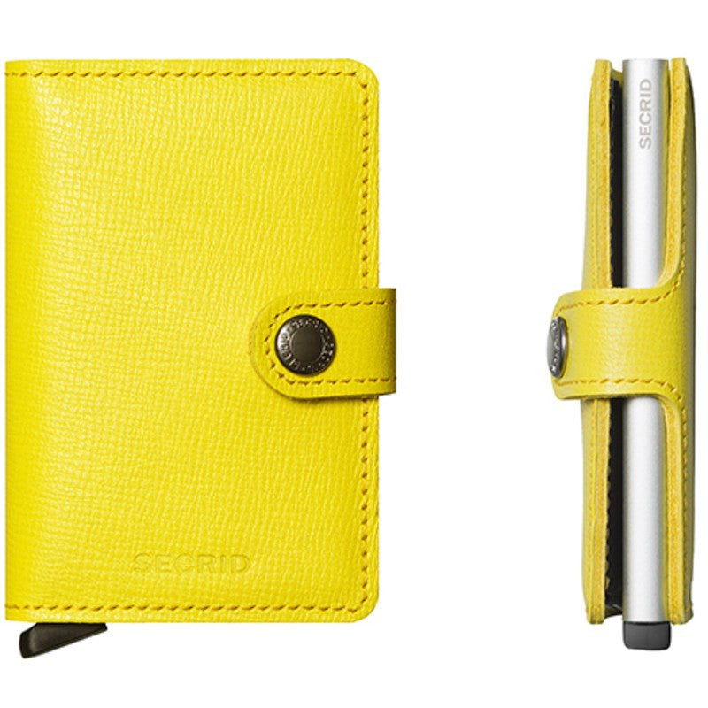 Secrid Mini Wallet Crisple | Lemon