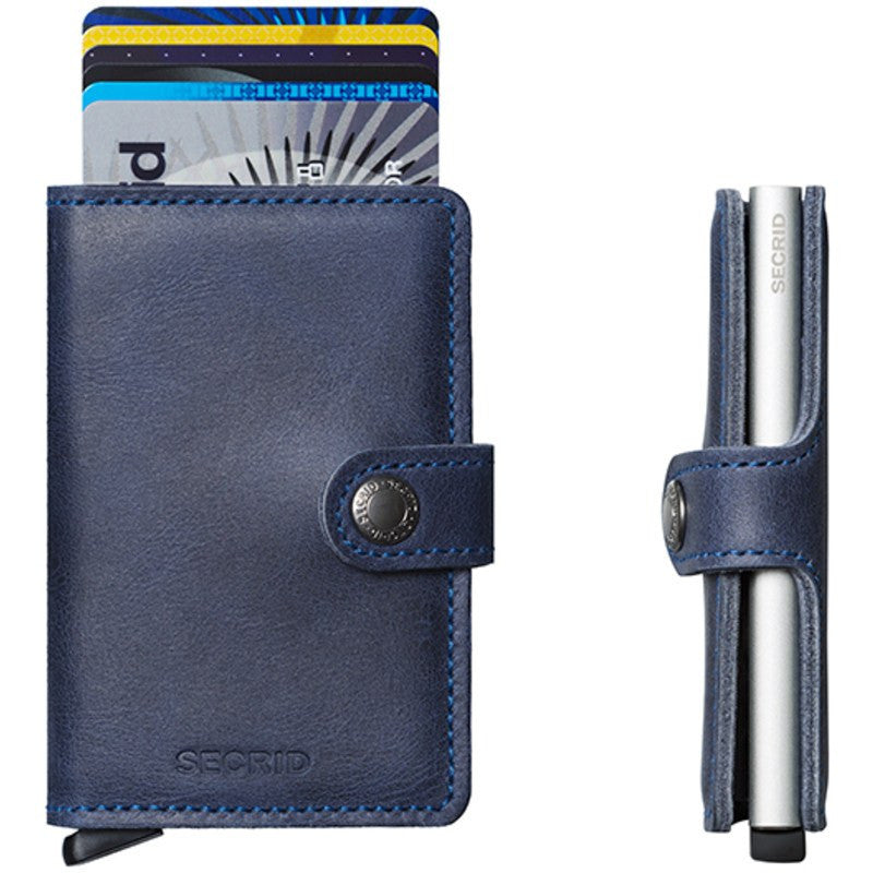 Secrid Mini Wallet Vintage | Blue