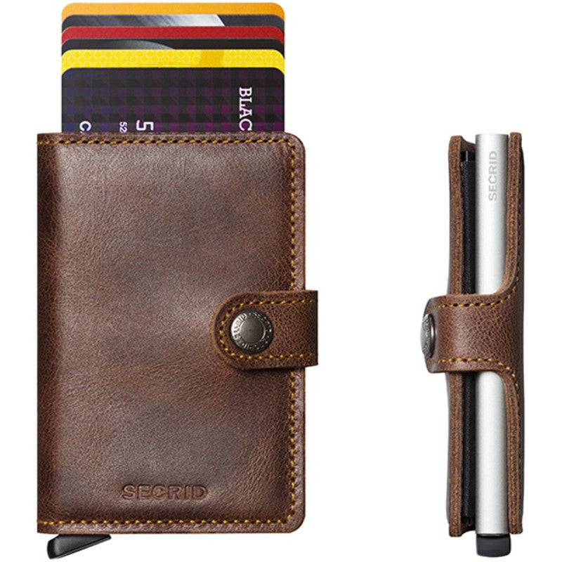 Secrid Mini Wallet Vintage | Brown