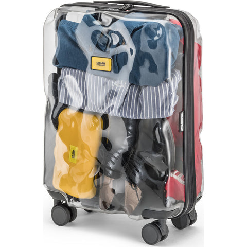 Crash Baggage Share Trolley Suitcase | Transparent --Medium Cb142-50