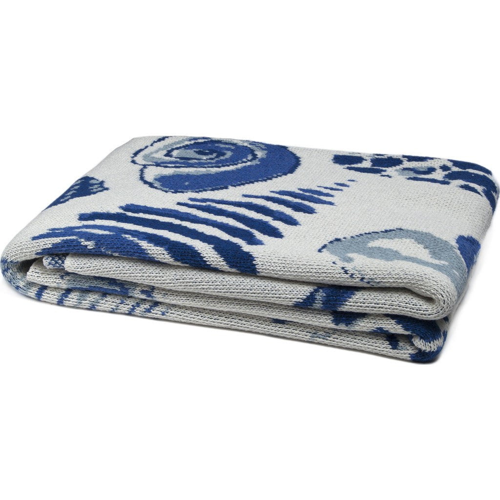 in2green Shells Eco Throw | Blue BL01SH8