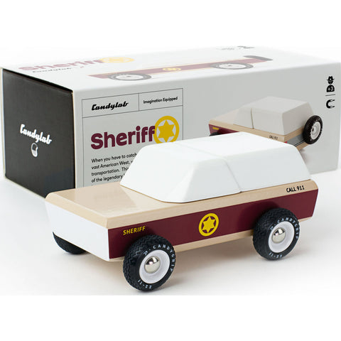 Candylab Lone Sheriff Wagon Wooden Toy | Brown M2051