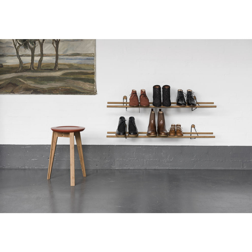 We Do Wood Shoe Rack Dark | Black Steel- 02030625