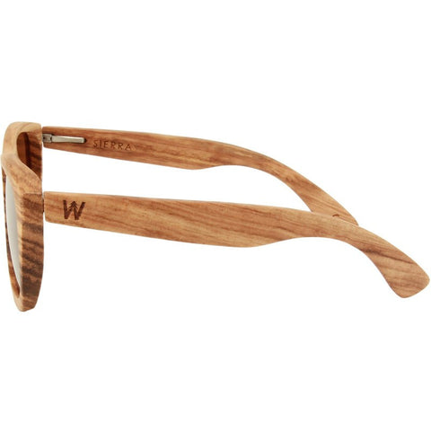Woodzee Sierra Zebra Wood Sunglasses | Bronze