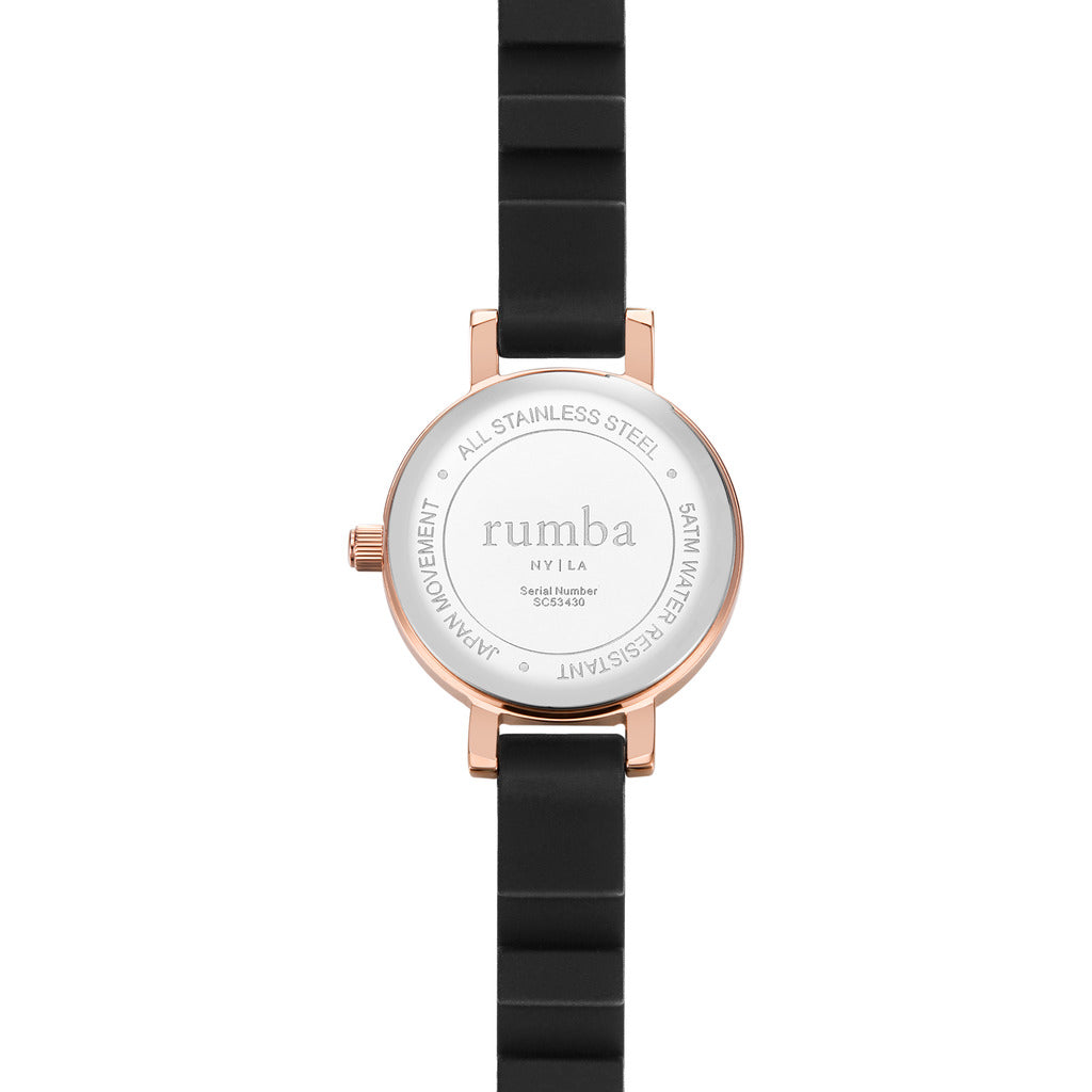 Rumba Time Venice Watch | Silicone Black 27055