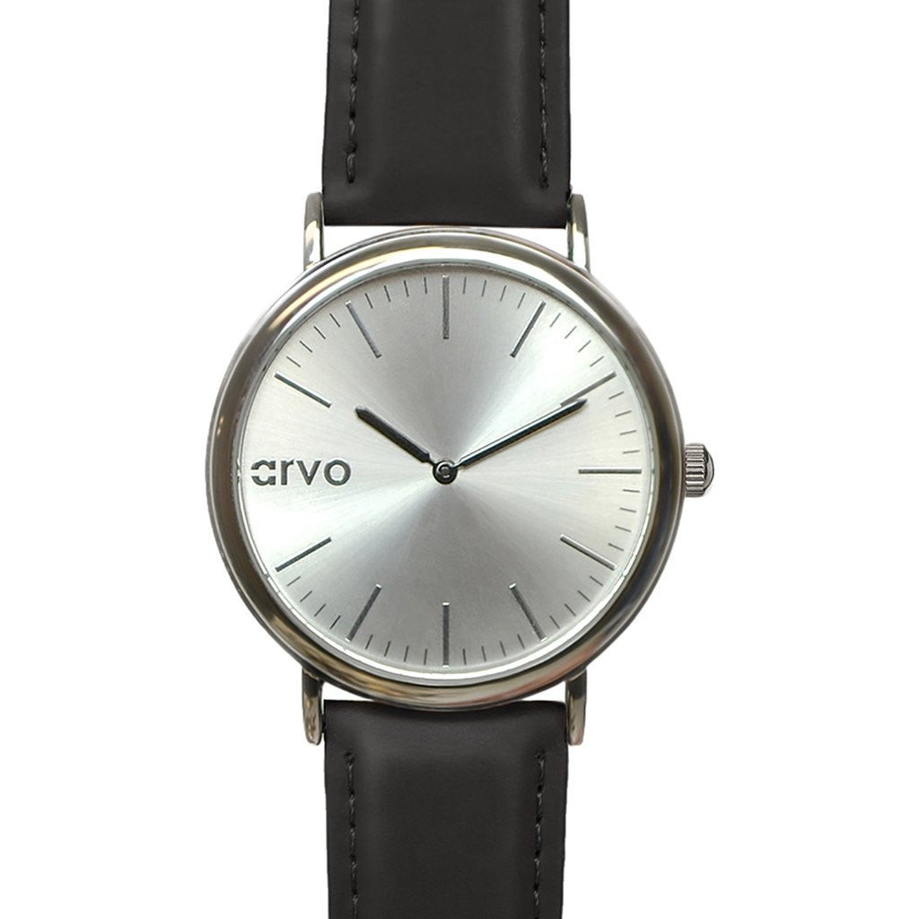 Arvo Silver Time Sawyer Watch | Silver/Black STSBK