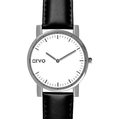 Arvo White Timeus Edison Watch | Silver/Black