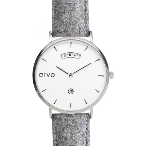 Arvo White Awristacrat Watch | Silver/Gray