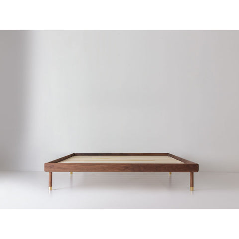 Kalon Simple Wood Bed Frame | Walnut