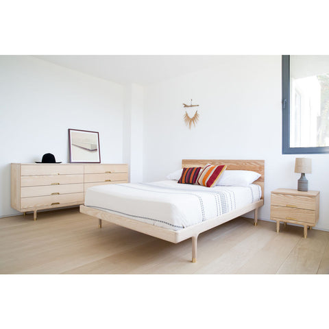 Kalon Simple Wood Bed Frame w/Headboard