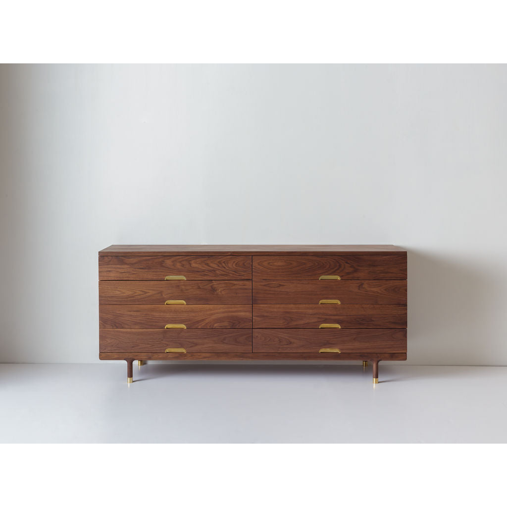 Kalon Simple Wood Dresser | Walnut 805-W-WS
