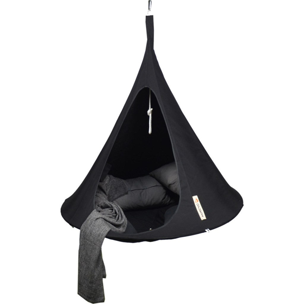 Cacoon Single Hanging Hammock | Black SBL008
