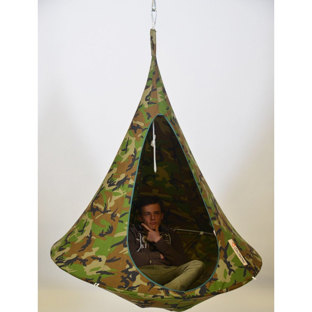 Cacoon Single Hanging Hammock | Camouflage SC009
