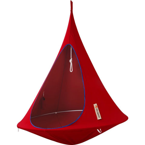Cacoon Single Hanging Hammock | Chili Red SR005