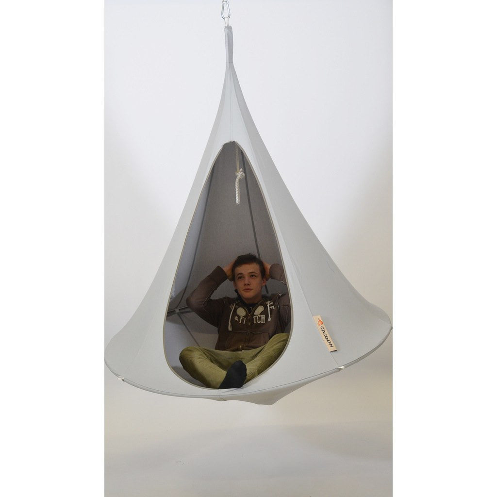 Cacoon Single Hanging Hammock | Light Grey SY006