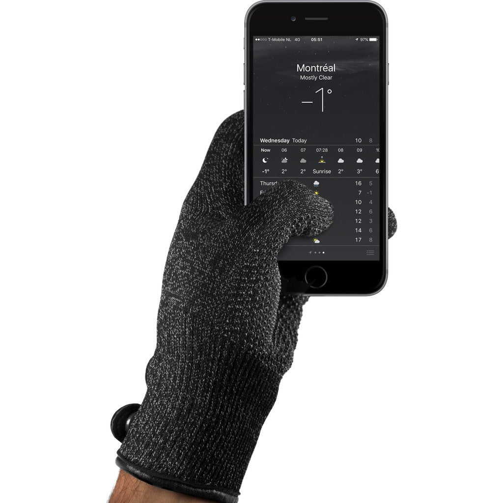 Mujjo Single Layered Touchscreen Gloves | Black Size S MUJJO-GLKN-011-S