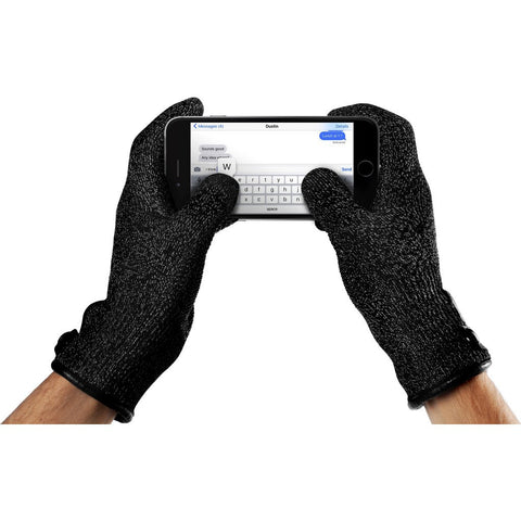 Mujjo Single Layered Touchscreen Gloves | Black Size M MUJJO-GLKN-011-M