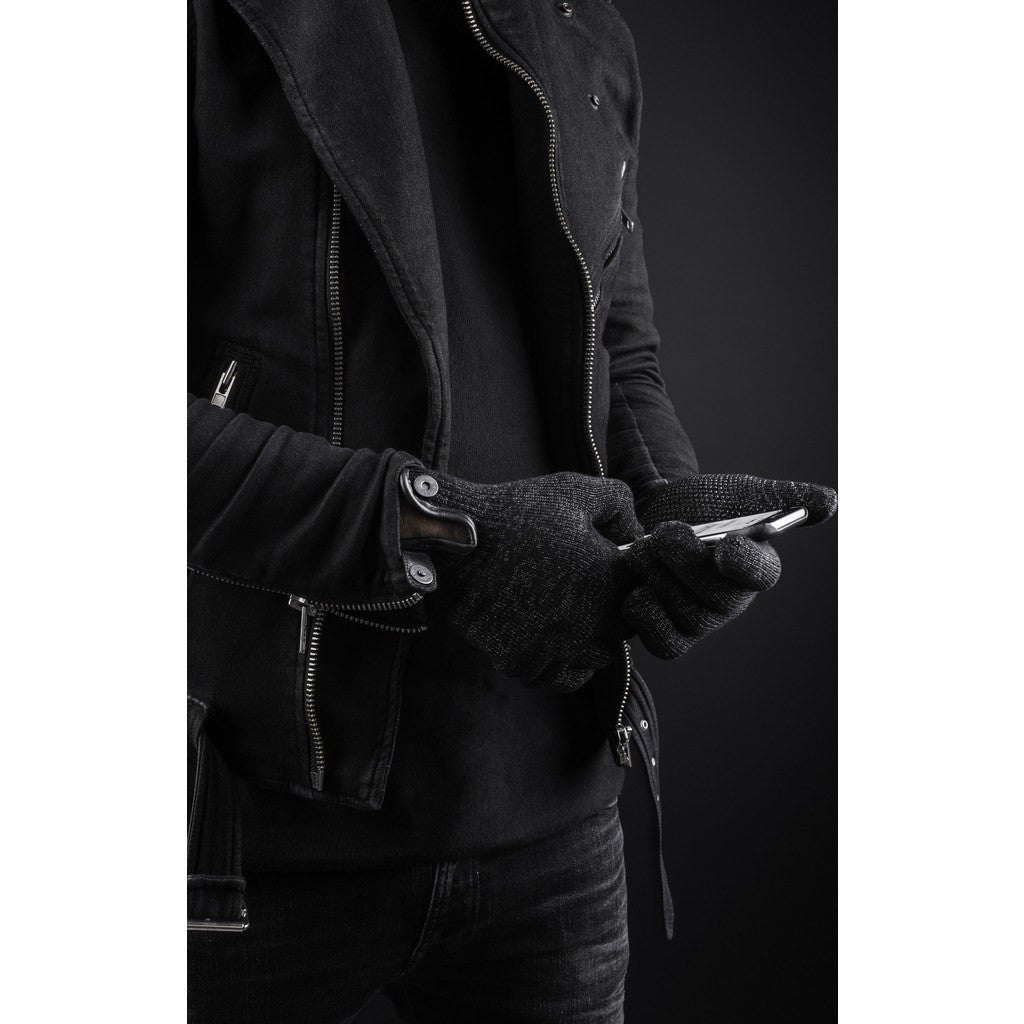Mujjo Single Layered Touchscreen Gloves | Black Size L MUJJO-GLKN-011-L