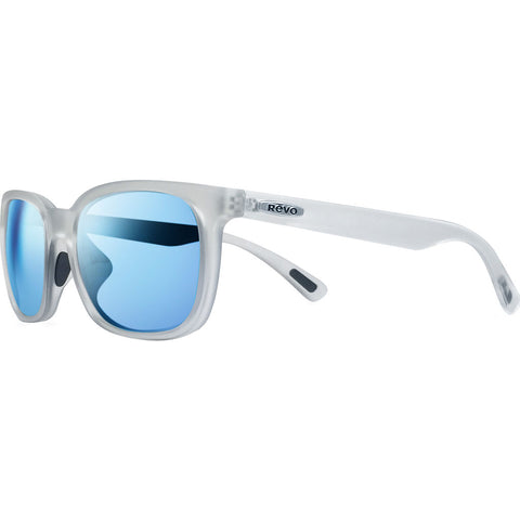 Rēvo Eyewear Slater Matte Crystal Sunglasses | Blue Water