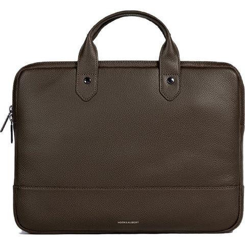 Hook & Albert Slim Briefcase Pebble Leather