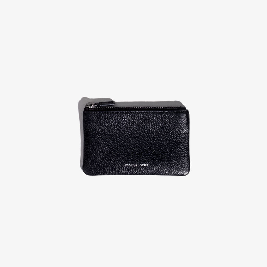 Hook & Albert Organization Leather Pouch | Black Small LORGP-BLK-S