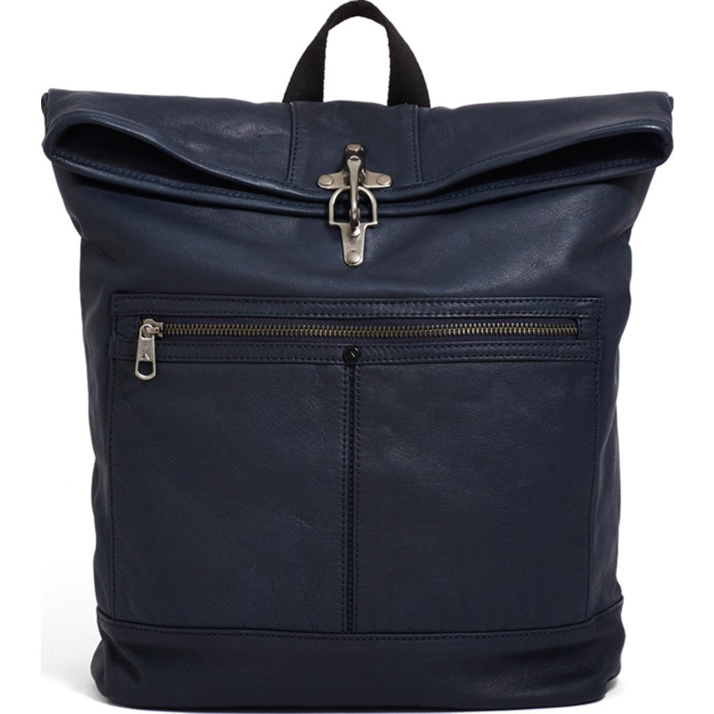 STATE Bags Smith Foldover Leather Backpack | Navy 1026-N