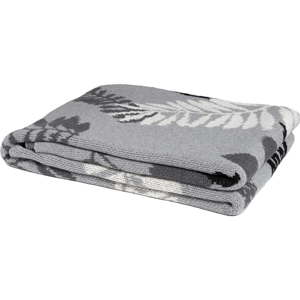 in2green Ferns Eco Throw | Aluminum/Smoke/Milk BL01FN1