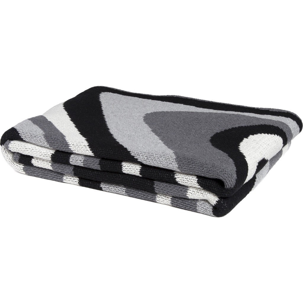 in2green Marble Eco Throw | Black/Aluminum/Smoke BL01MB1