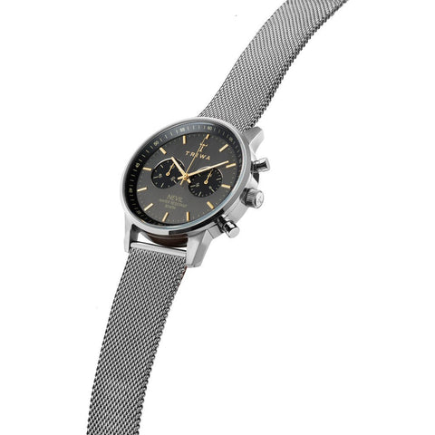 Triwa Smoky Nevil Watch | Steel Mesh Strap NEST114-ME021212