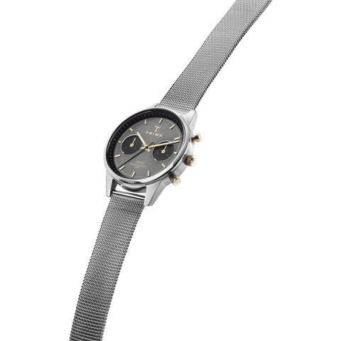 Triwa Smoky Nikki Watch | Steel Mesh Super Slim- MS121212-NKST103