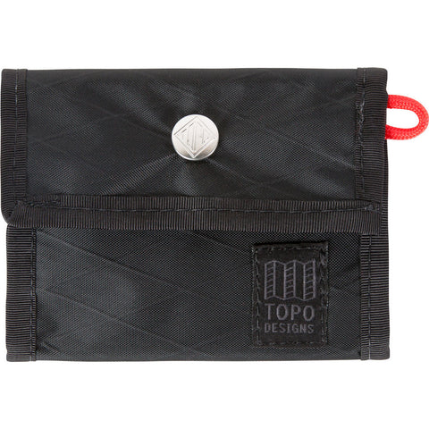 Topo Designs Snap Wallet | X-Pac Black