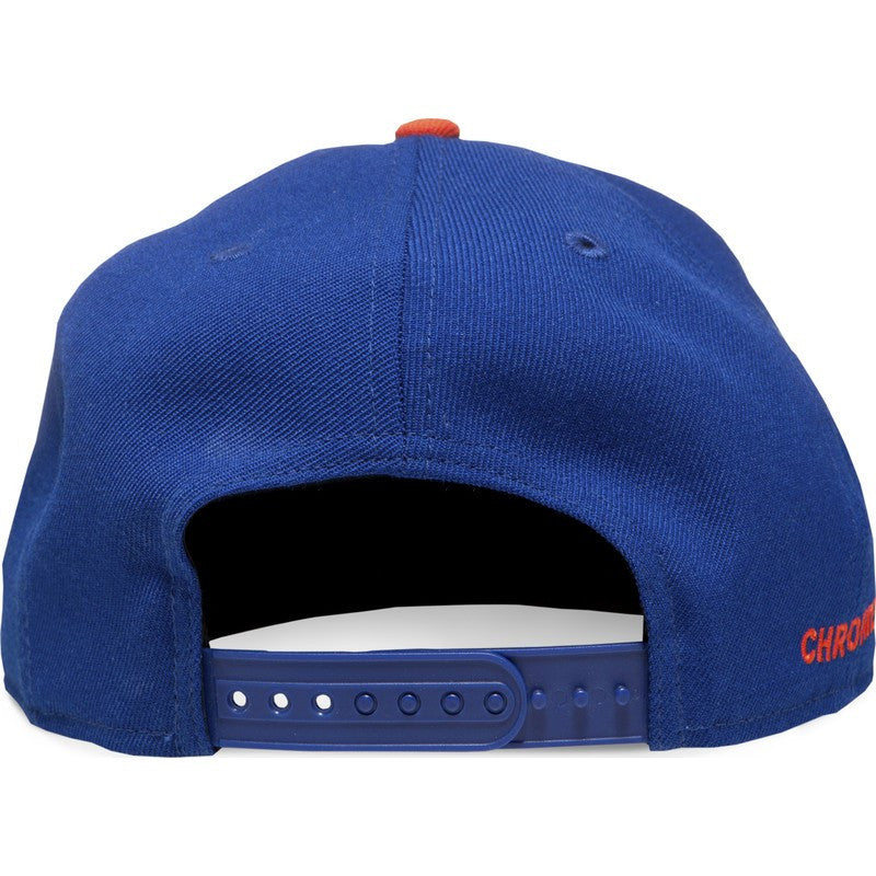 Chrome Mets Snapback Hat | Blue/Orange