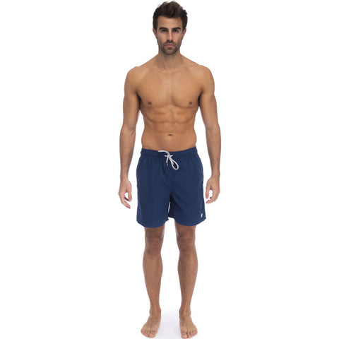 Tom & Teddy Men's Solid Swim Trunk | Midnight Blue / S