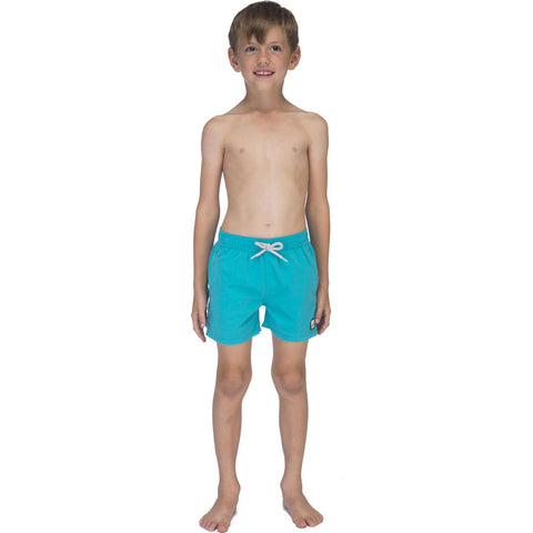 Tom & Teddy Solid Swim Trunk | Pool Blue / 11-12
