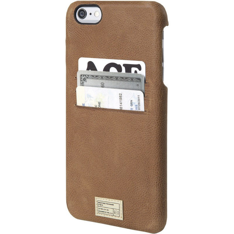 Hex Solo Wallet for iPhone 6 Plus | Brown Leather