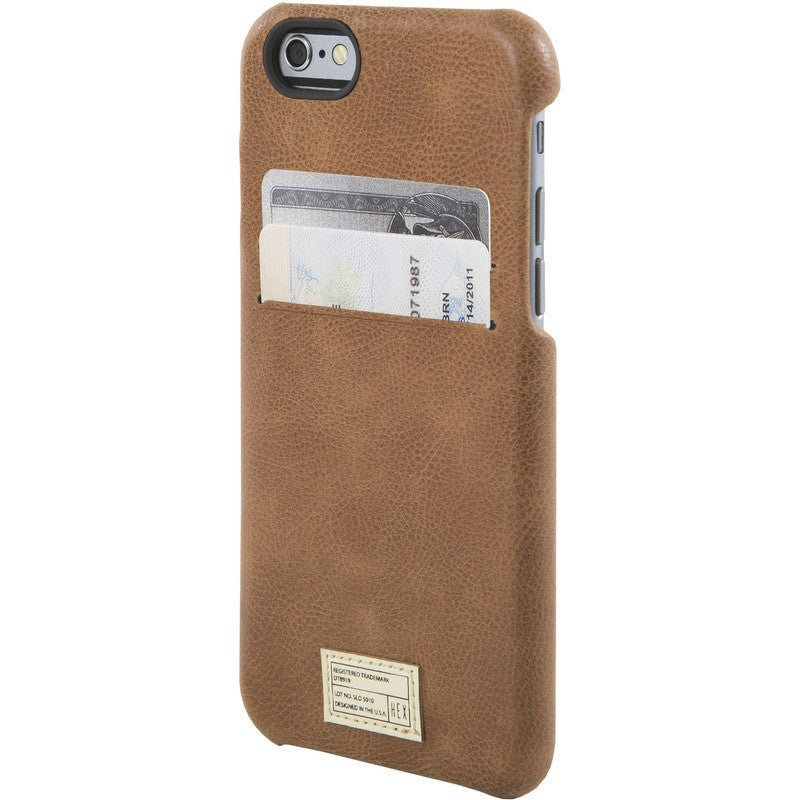 Hex Solo Wallet for iPhone 6 Brown Leather | HX1751 BRWN